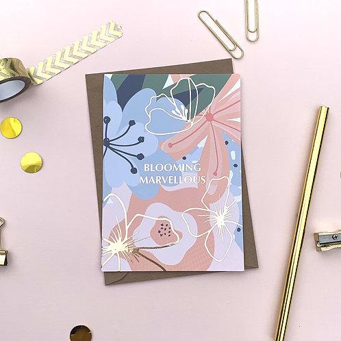 6 Blooming Marvellous - Celebration Card, Birthday Card, Happy Birthday Ca