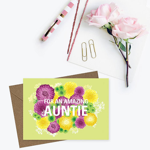 For an amazing auntie card, auntie's birthday card, card for auntie