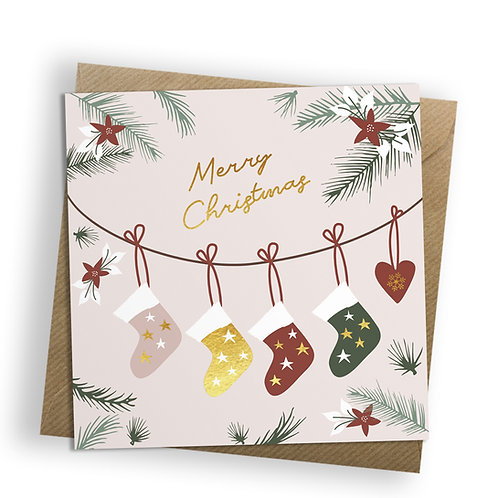 Christmas Joy - Stockings, Christmas Card