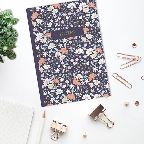 Ditsy Floral Notes - A5 Floral Notebook / Journal / Sketchbook