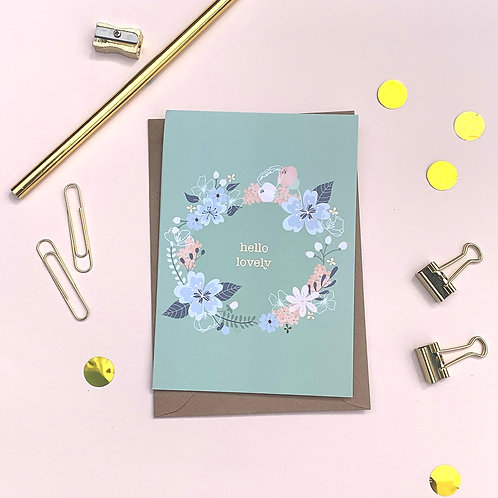 Hello Lovely - Just a Note Card