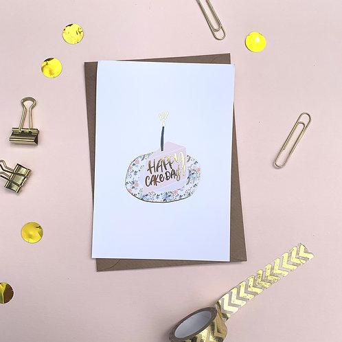 Happy Cake Day - Birthday Card, Happy Birthday Card