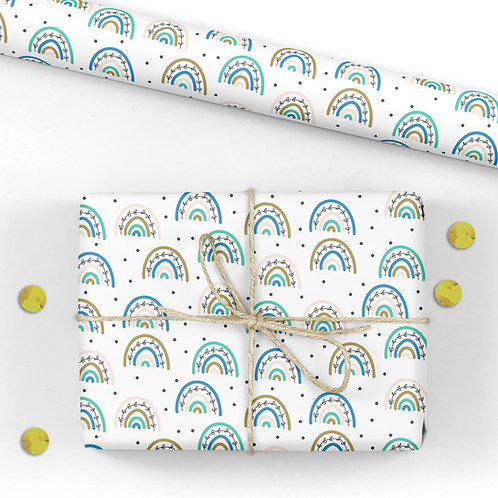 Rainbow Birthday Wrapping Paper / Gift Wrap - Harriet's Party Rainbows