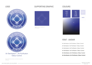An example of the lookbook you get with your logo design. This outlines fonts, colour swatches and any supporting images or graphics.