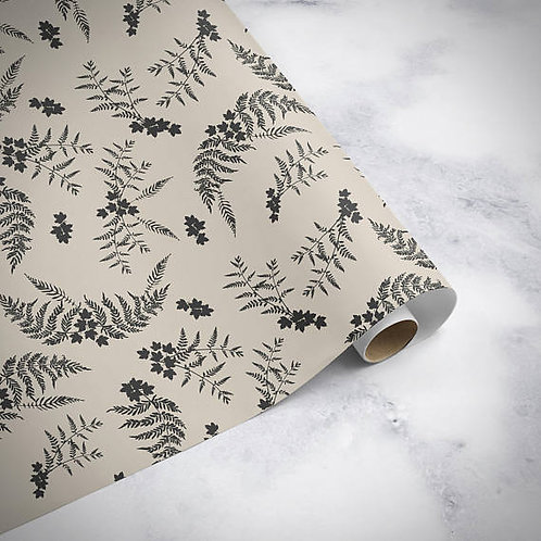Luxury fern and leaf birthday wrapping paper, gift wrap, birthday gift wrap