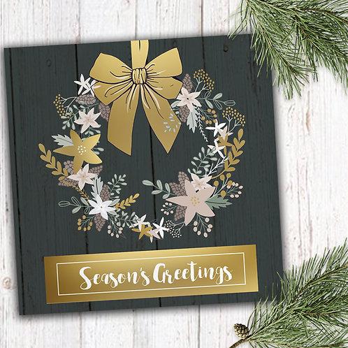 Christmas Flowers - Christmas Door, Set of 8 Christmas cards