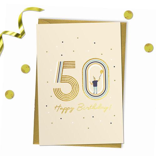 6 of 50 - Happy birthday Card, 50th birthday card