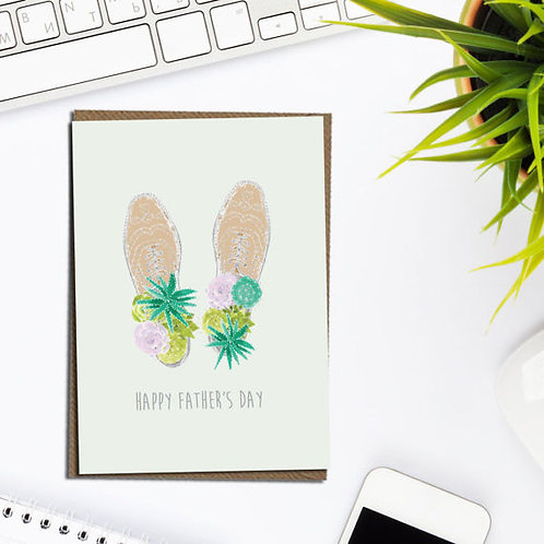 Happy Father's Day card, card for dad, fathers day card, cacti card