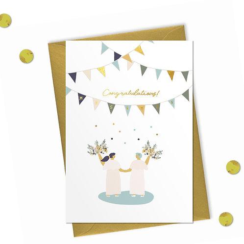 Congratulations Mrs & Mrs - Wedding Card
