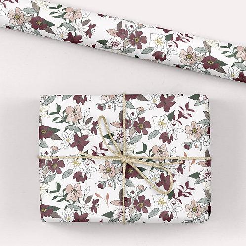 6 Floral Wrapping Paper / Gift Wrap - Tabitha's Garden - Hellebores