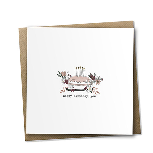 6 Blooming Cake - Birthday Card, Birthday Wishes, Happy Birthday Card