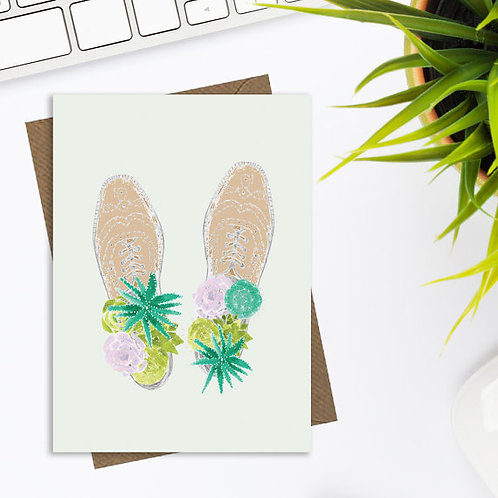 Fun cactus and succulent greetings card, cactus card, quirky greetings card