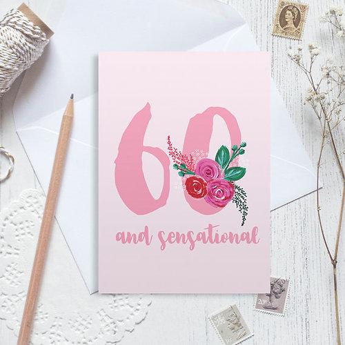 Christine gardner design studio personalised 60th birthday card personalised 60th birthday card 60 birthday card happy 60th birthday bookmarktalkfo Image collections