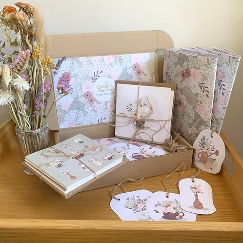 Stationery Gift Box - Greetings Card, Gift Wrap and Tags Gift Box