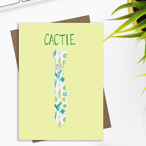 Fun cactus and succulent greetings card, cactie, quirky greetings card