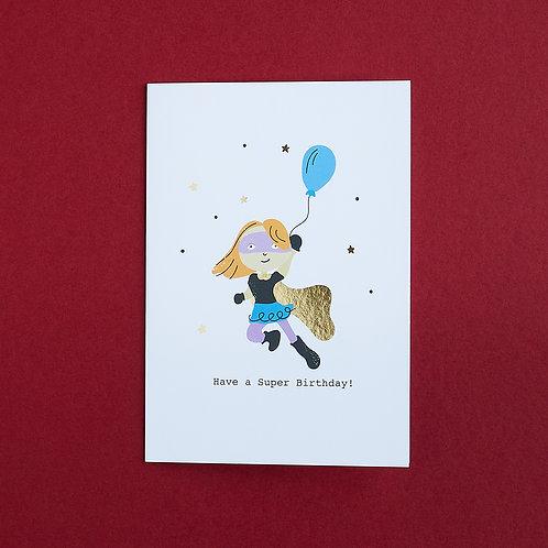 6 You Are Super! - Birthday Card, Superhero Card