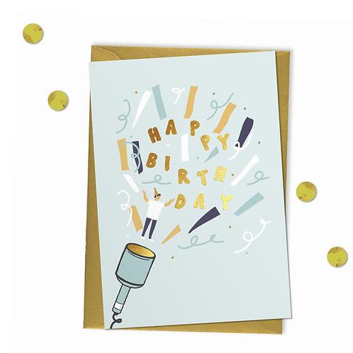 Party Popper - Birthday Card