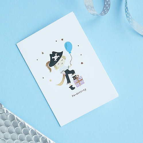 6 Pa-arrr-ty! - Birthday Card, Pirate Card