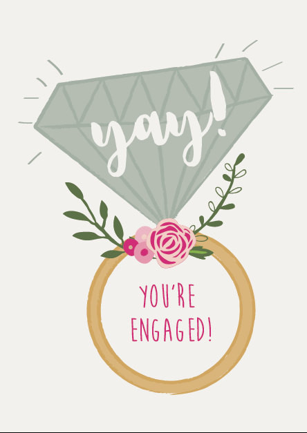 Engagement Card Rustic Engagement Card Congratulations Card