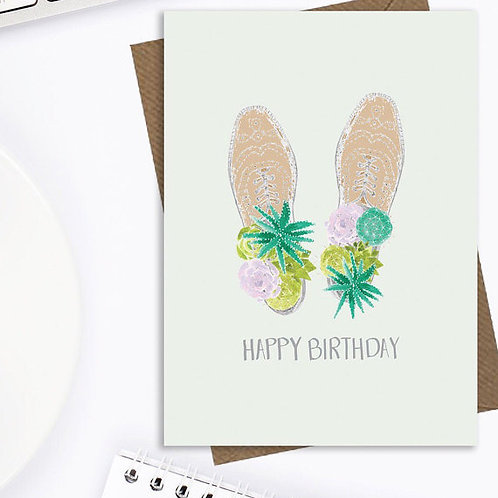 Men's fun birthday card, cactus birthday card, male birthday card