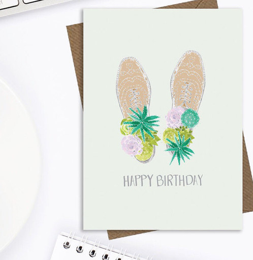 Mens Fun Birthday Card Cactus Male