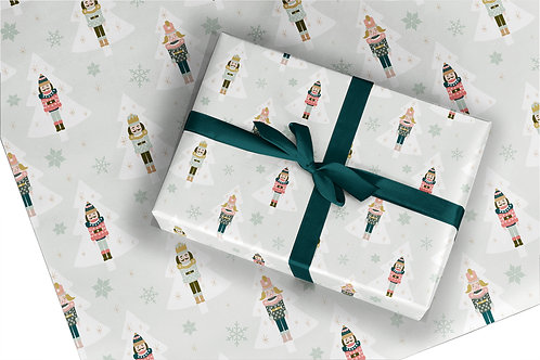Christmas Wrapping Paper / Gift Wrap - Nutcrackers