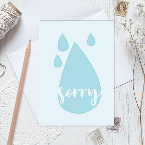 Sorry card, thinking of you card, sympathy card, I'm sorry card, bereavement