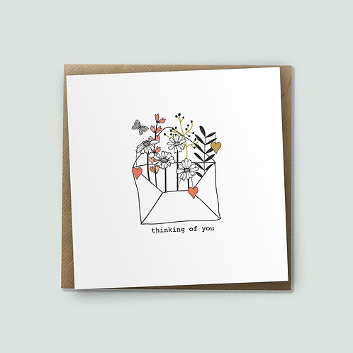 6 Love Letter - Thinking Of You Card, Encouragement Card, Bereavement Card