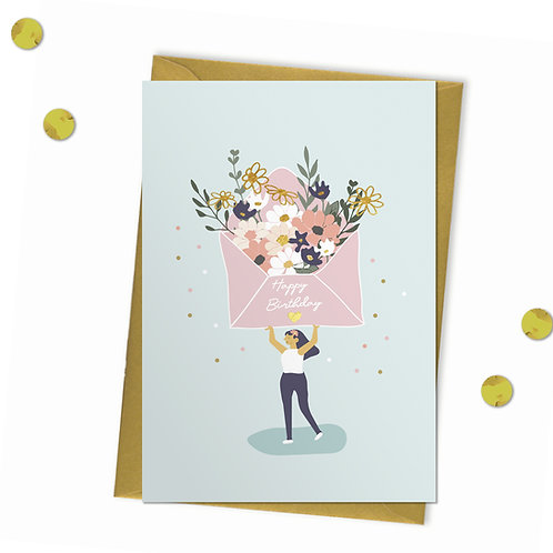 Huge Flower Envelope - Birthday Card
