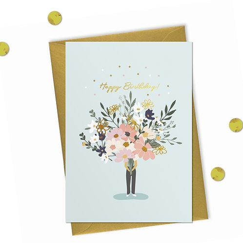 6 Huge Birthday Bouquet - Birthday Card