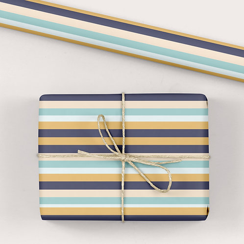 Birthday Wrapping Paper / Gift Wrap - Good Times Warm Stripes