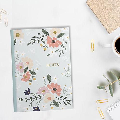 Floral Notes - A5 Floral Notebook / Journal / Sketchbook