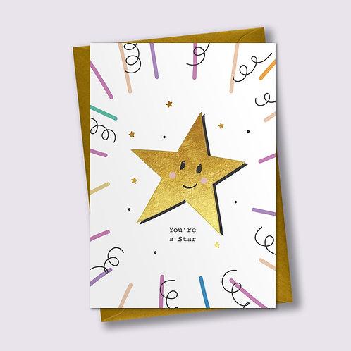 You Star - Encouragement card, Congratulations Card