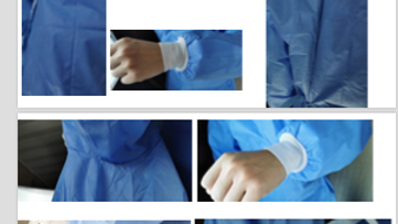 Surgical Sterile SMS Isolation Gowns with AAMI Standards