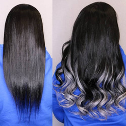 silver ombre hair extensions