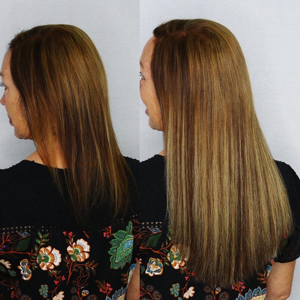 blonde highlight extensions