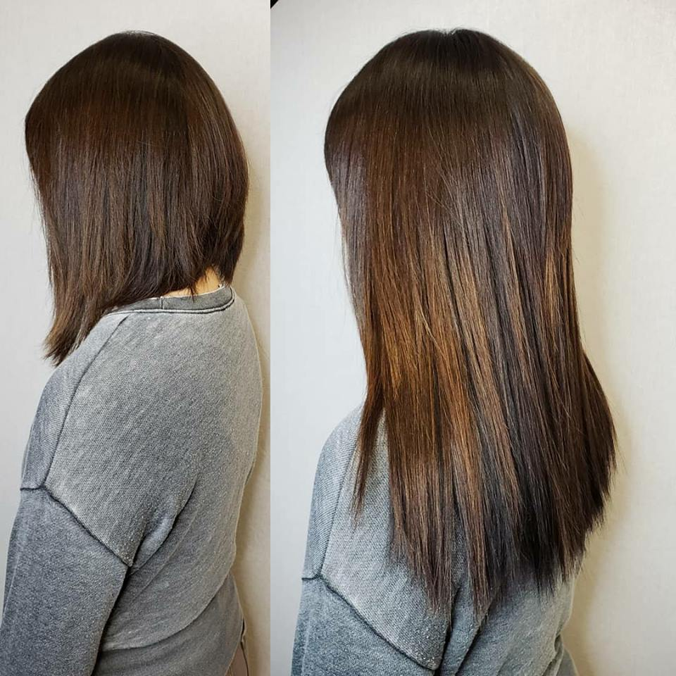 warm brown hair extensions