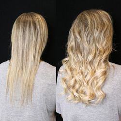 blonde extensions on fine hair