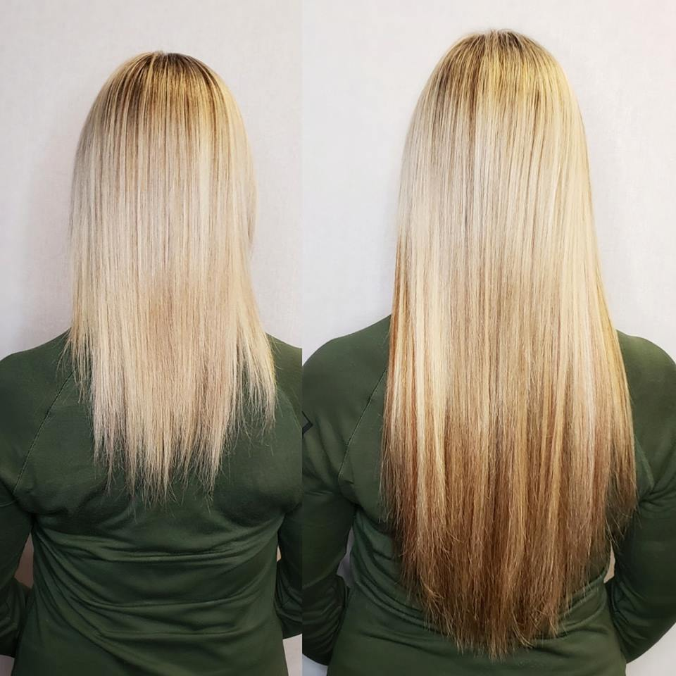 blonde hair extensions with lowlights