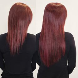 red violet hair extensions