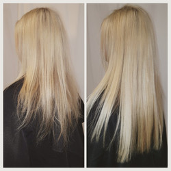 hair extensions platinum blonde