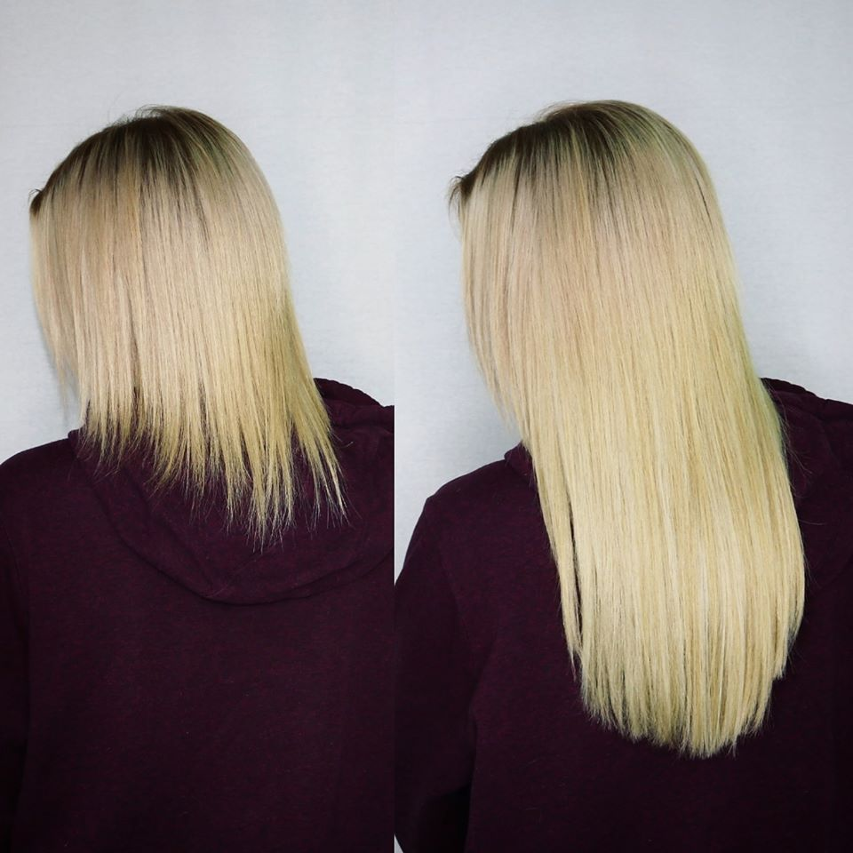 Blonde Hair Extensions to Hide Damage