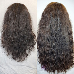 curly hair with hair extensions