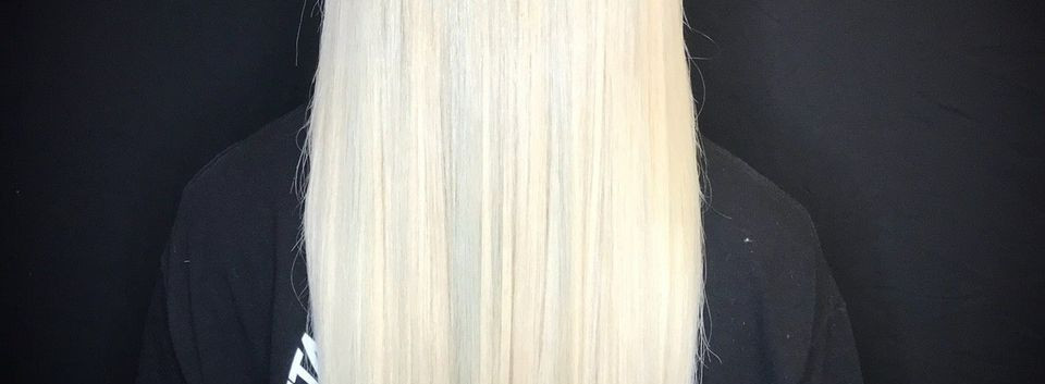 platinum blonde hair extensions to add l