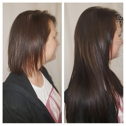 brown hair extensions on fine hair