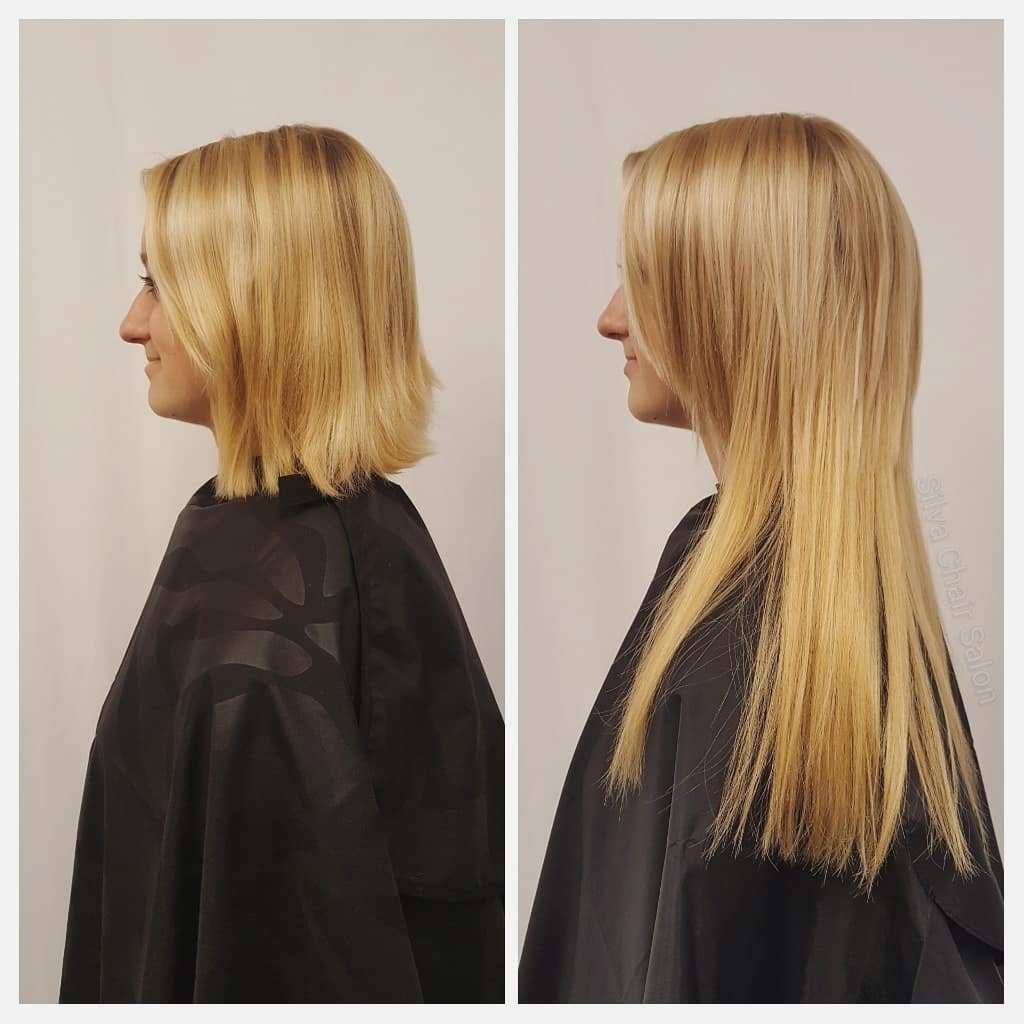 hair extensions blonde straight