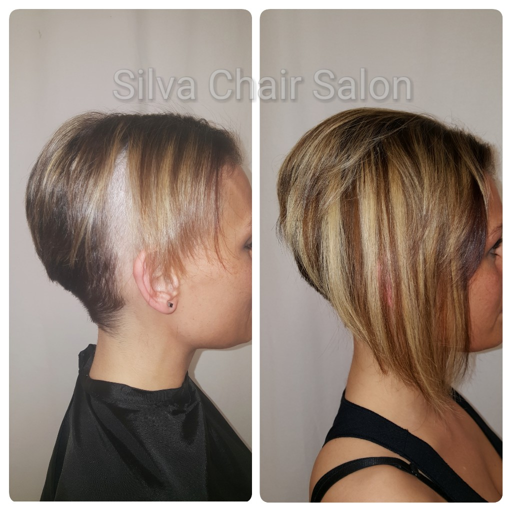 fixing a haircut with hair extensions