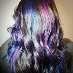 blue and purple and teal