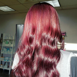 red violet hair