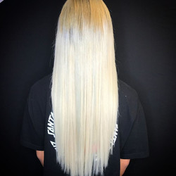 platinum blonde extensions